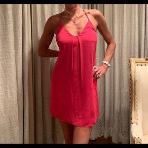 Pink silk Alice + Olivia dress